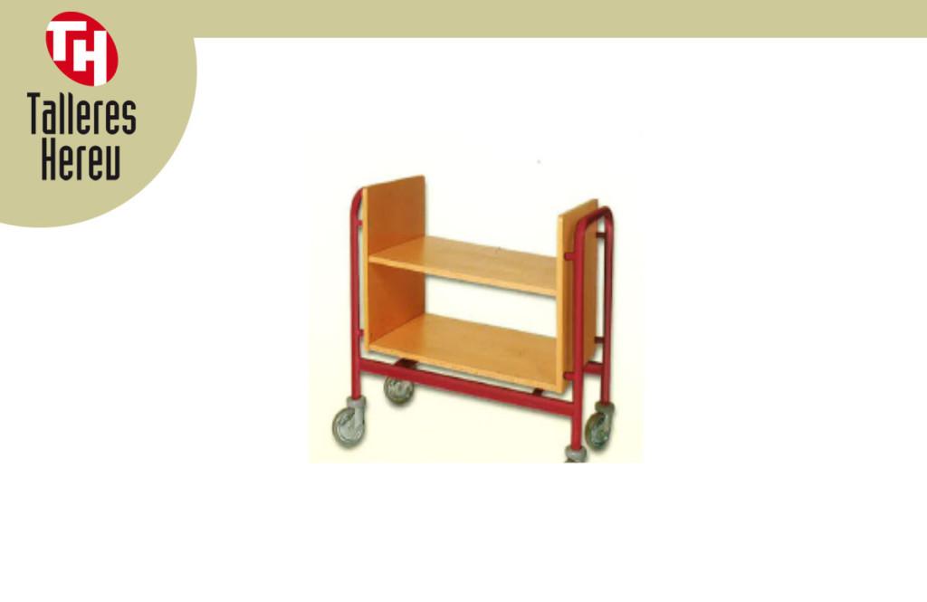 Carrito para biblioteca BLI-7 Mobiliario para colectividades Talleres Hereu